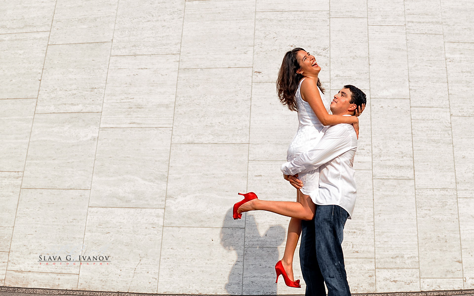Edgy engagement photography in Houston Texas