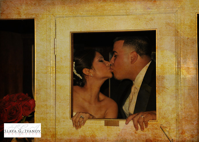 bride and groom kissing inside the wedding carridge after they got married at oakland farm and ranch in Tomball Texas