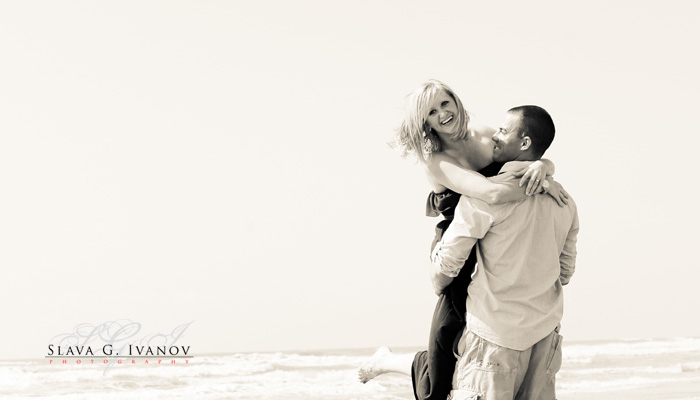 Engagement photography in Galveston Texas