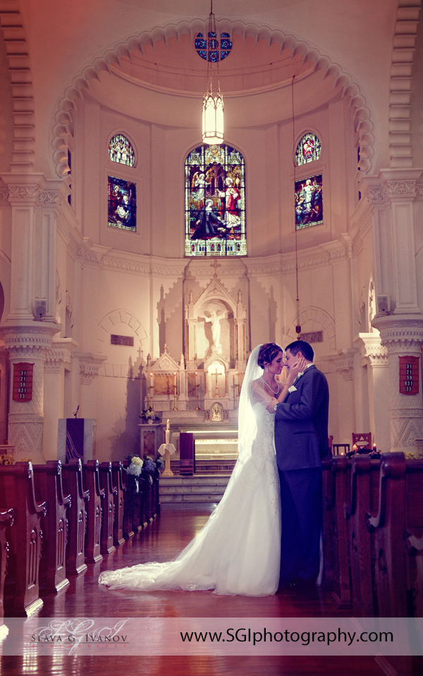 Sacred Heart Church Galveston Wedding Photography
