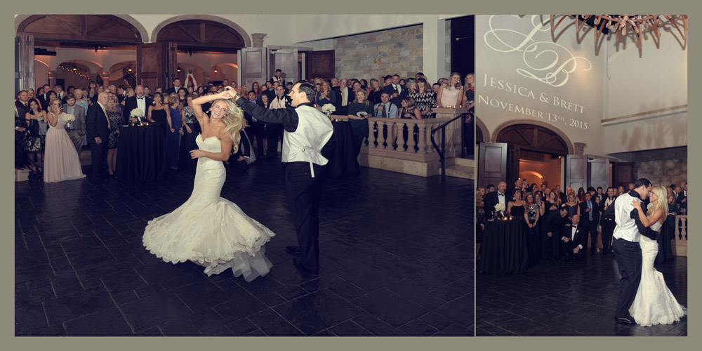first dance af the bell tower on the 34th wedding and reception photographer
