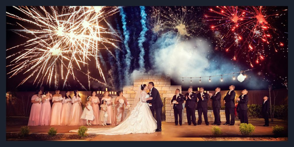 wedding ceremony fireworks