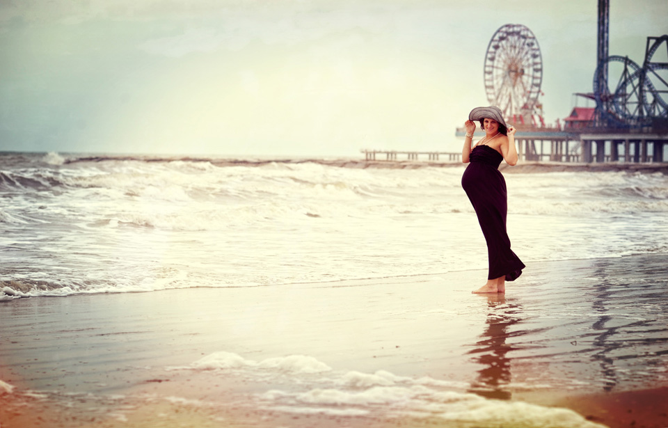 Galveston Beach Maternity Photography