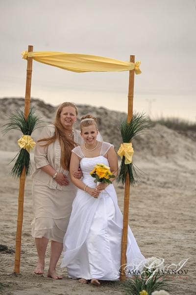 Galveston Texas Beach Wedding Bride Walking Down To Meet Her Groom