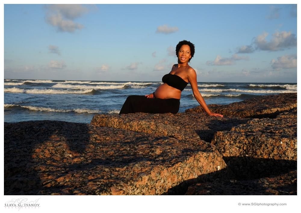 Galveston Beach Maternity Photography